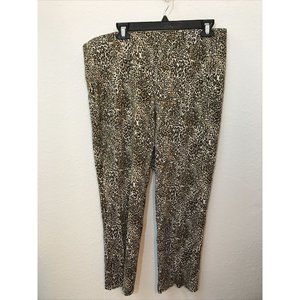 Chicos Womens Animal Print Knit Ankle Pants 3P US